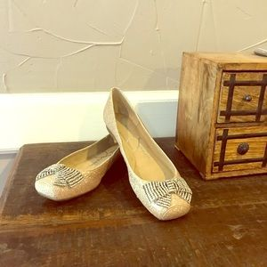 Shimmering Ballerina Flats by Jessica Simpson